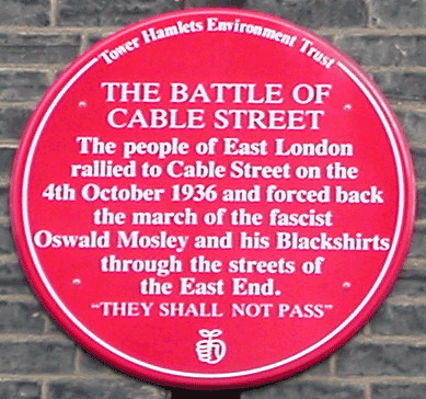 FORSEA-Battle-of-Cable-Street-red-plaque