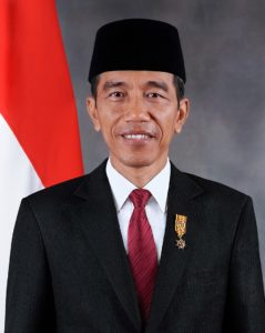 Joko Widodo official potrait, provided by the Government of Indonesia