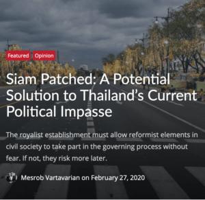 Siam Parched Thailand's Political Impasse