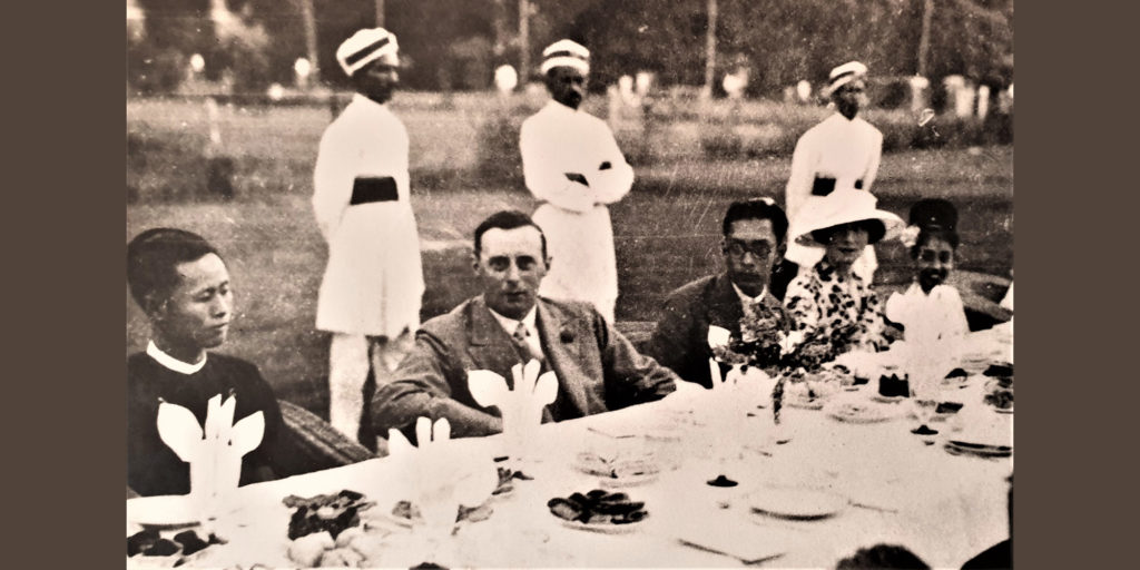 Aung San and MA Rashid who were Vice President and President of Rangoon U Students Union with the British governor Sir Dorman Smith in 1930s FORSEA